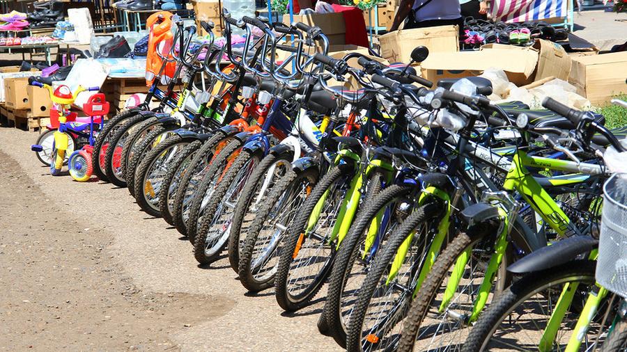 Велосипеды на рынке ТЯК Москва в Люблино
