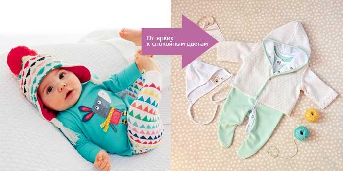 Тусклые цвета заменяют яркие цвета в одежде для новорожденных