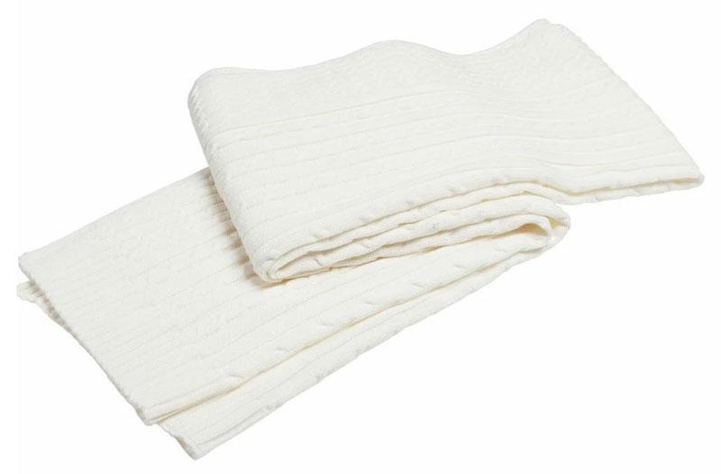 Белый шарф из полиэстера